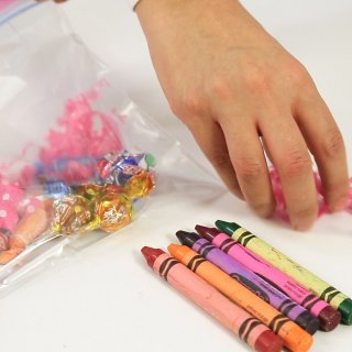 Place the stripsBag of sweets for your children