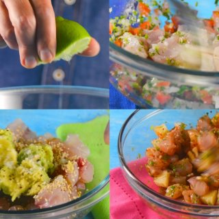 How to prepare 3 Ceviches in 5 minutes