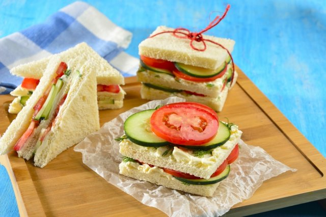Recipe of Cucumber Sandwiches with Dill