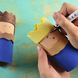 How to make wise men with rolls of paper