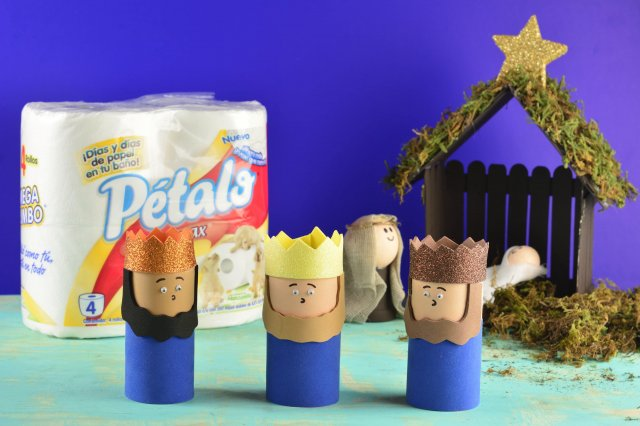 Recipe of How to make wise men with rolls of paper