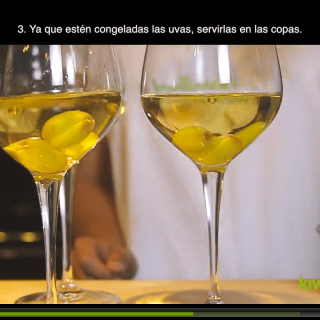 Add frozen grapes to the wine to coolHow to cool wine quickly