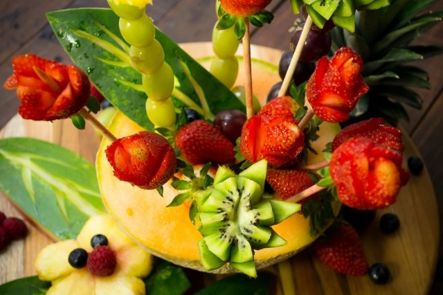 Recipe of How to make a Floral Fruit Arrangement